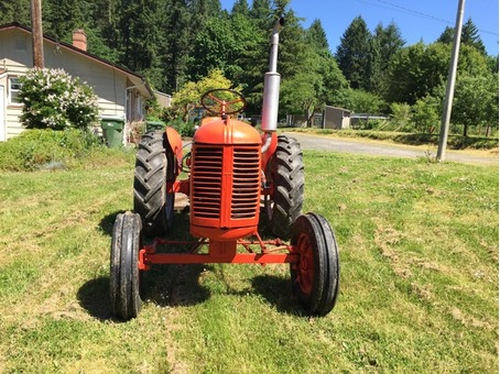 Vintage 1950 Case VA Tractor With Implements